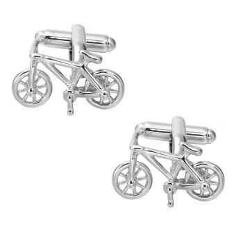 High Quality Silver Bicycle Cufflinks French Long Sleeved Shirt Nail - SILVER SILVER