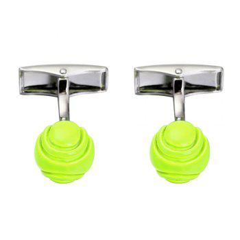 Green Tennis Cufflinks High-Quality French Cuff Links - GREEN GREEN