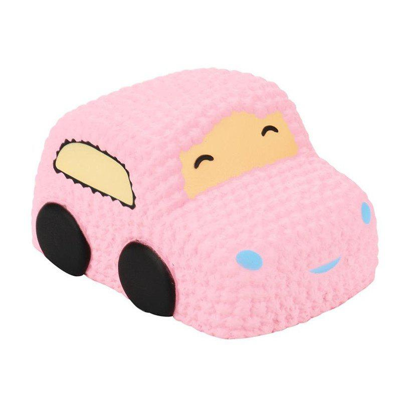Slow Rising Squishy Car Cake Jumbo Big Strawberry Scented Cartoon Toy - PINK