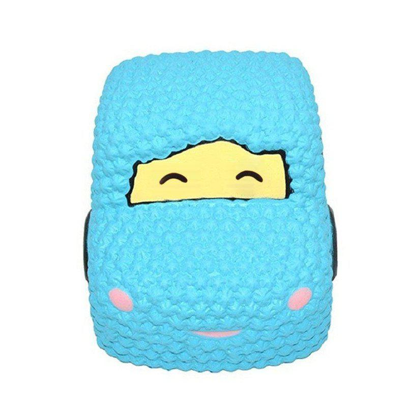 Slow Rising Squishy Car Cake Jumbo Big Strawberry Scented Cartoon Toy - BLUE
