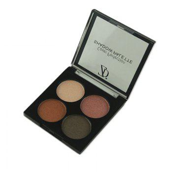 ZD F2091 4 Colors Eye Shadow Palette Matte Shimmer Powder Eyeshadow 3PCS -  COLORMIX