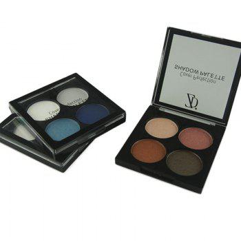 ZD F2091 4 Colors Eye Shadow Palette Matte Shimmer Powder Eyeshadow 3PCS - COLORMIX COLORMIX