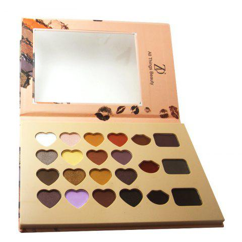 ZD F2082 Makeup Palette 16 Colors Eyeshadow 3 Colors Lip Gloss 3 Colors Eyebrow Powder Palettes 1PC - COLORMIX