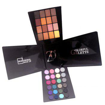ZD F2061 132 Colors Eyeshadow Blusher Lipstick Foundation Makeup Palette With Brushes 1pc - COLORMIX