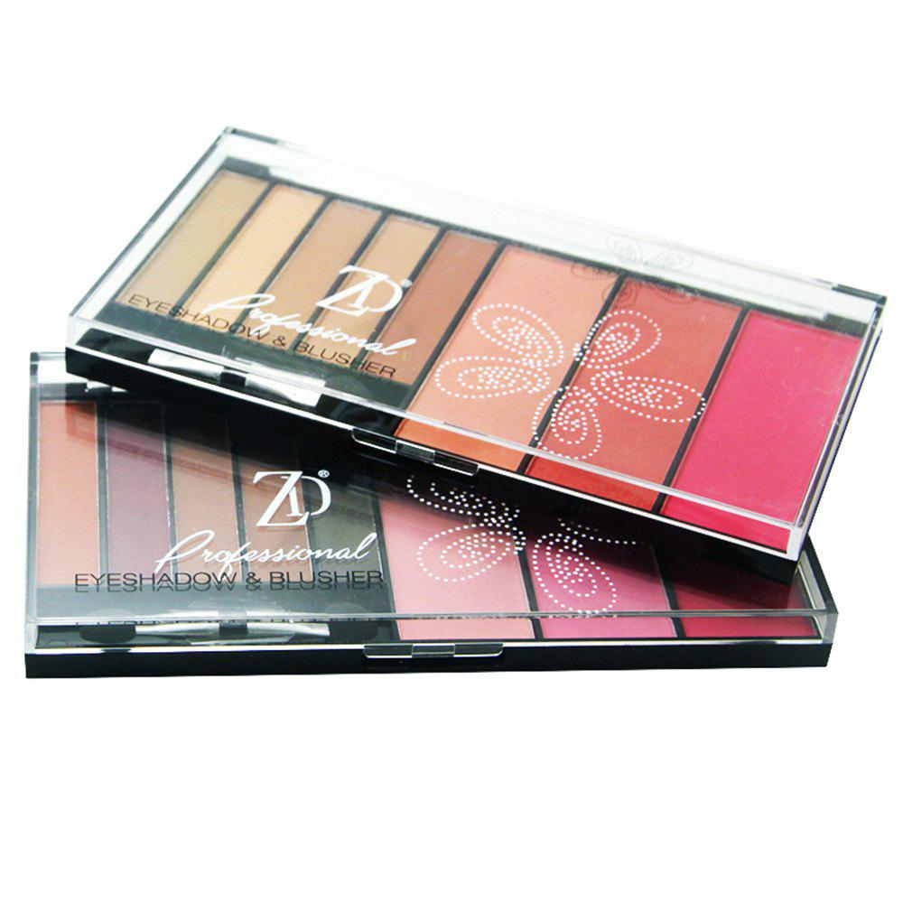 ZD F2068 5 Colors Eyeshadow 3 Colors Blusher Palette 1pc -