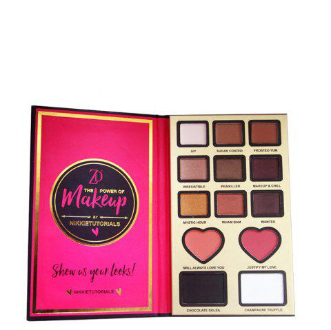 ZD F2099 9 Colors Eyeshadow 2 Colors Blusher 2 Colors Bronzer Powder 1PC - 01