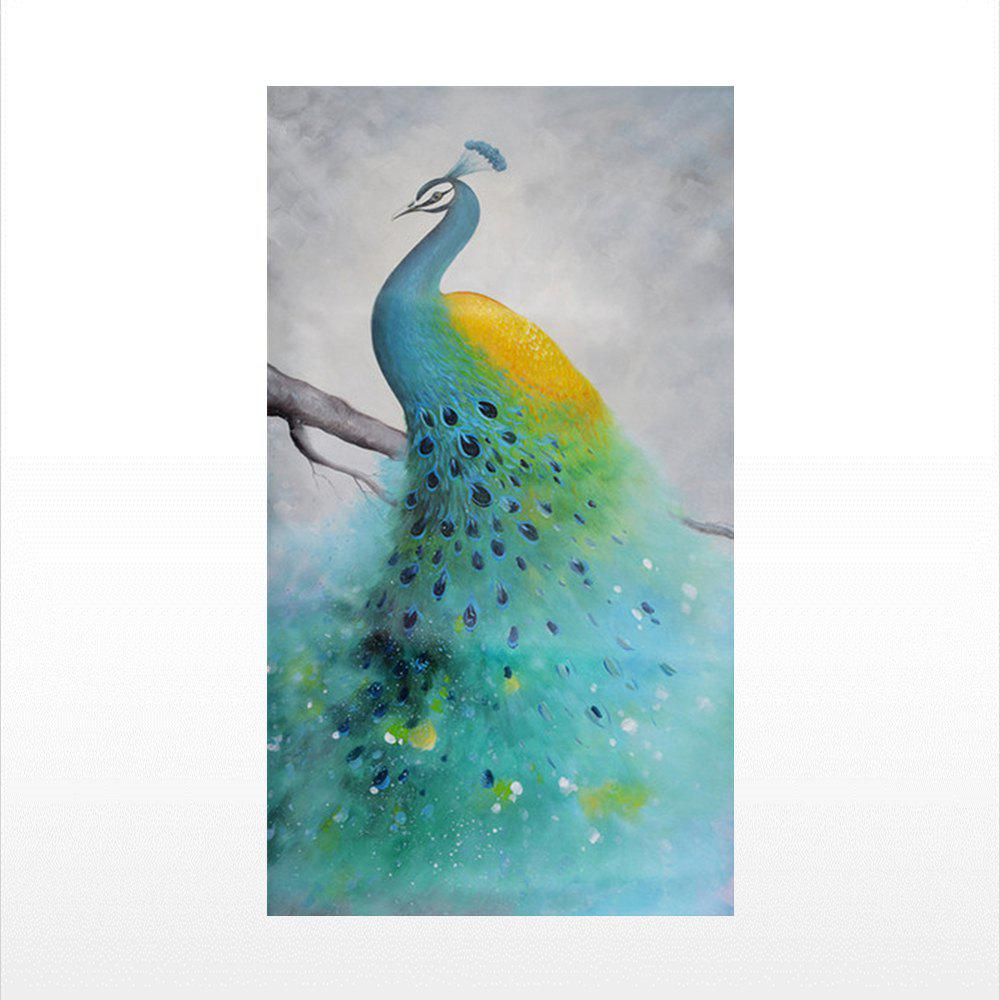 Naiyue 7040 Peacock Print Draw Diamond Drawing - YELLOW / GREEN 1PC