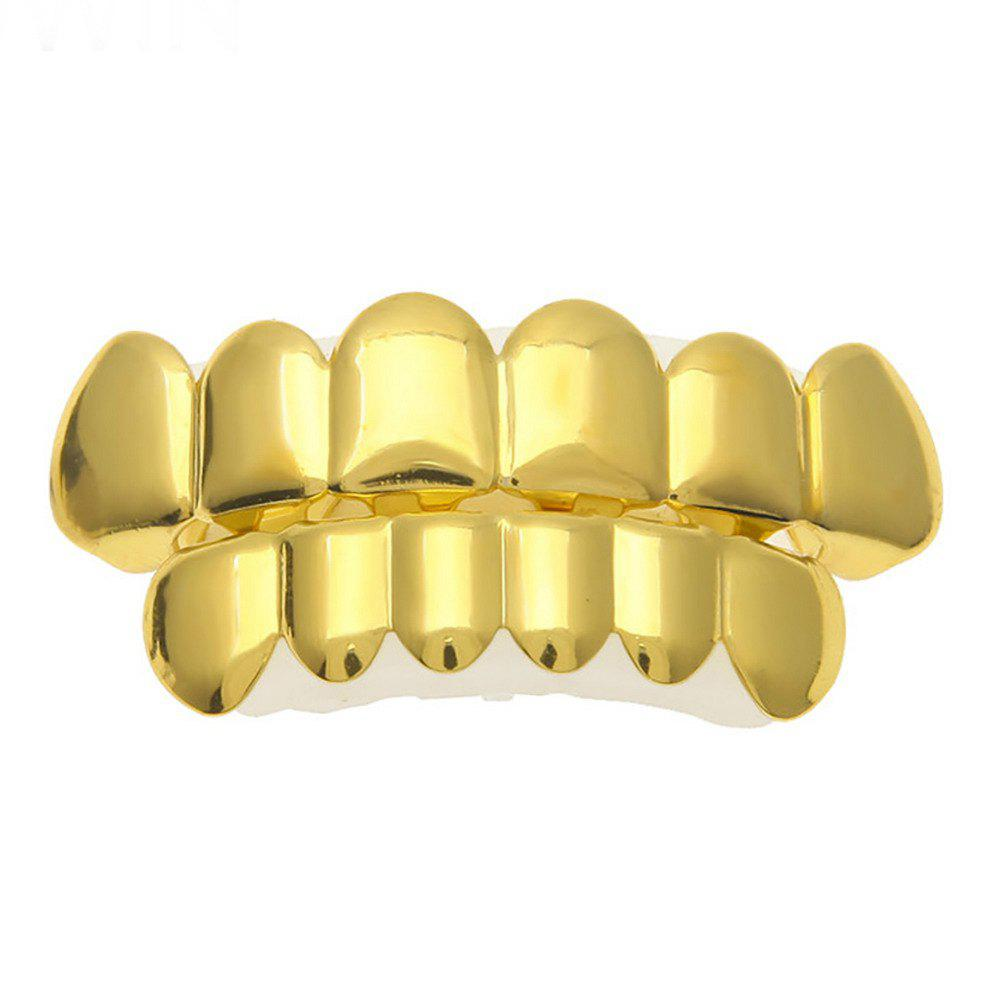 Hip Hop 18k Gold Plated Gold  Classic Grillz - GOLDEN