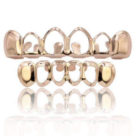 Dents creuses plaquées or Hip Hop 18K Grillz - Or de Rose