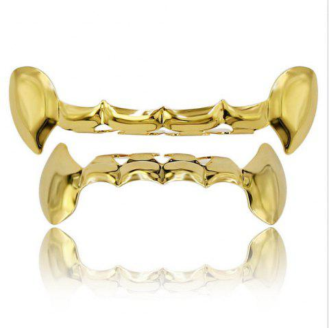 Dents de vampire plaquées or 18K Hip Hop Grillz Grillz - Or