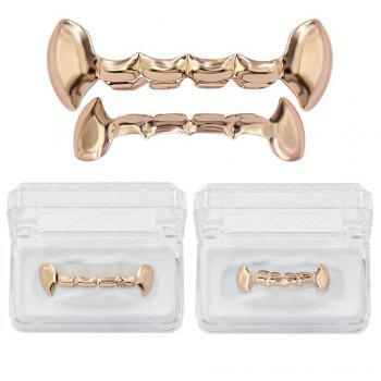 Dents de vampire plaquées or 18K Hip Hop Grillz Grillz - Or Rose