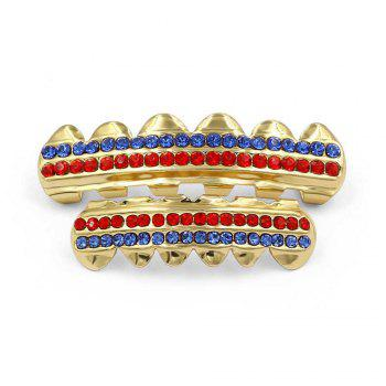 Hip Hop 18K Gold Plated Gold Crystal