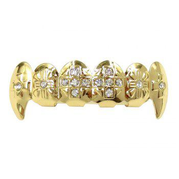 Hip Hop 18K Gold Plated Vampire Teeth Grillz - GOLDEN