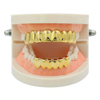 Hip Hop 18K Plaqué Or 8 Dents Classique Grillz - Or
