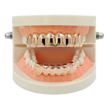 Hip Hop 18K Gold Plated 8 Teeth Classic Grillz -  ROSE GOLD