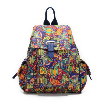School Backpacks For Girls Floral Canvas Backpack College Backpack Bird - COLORFUL COLORFUL