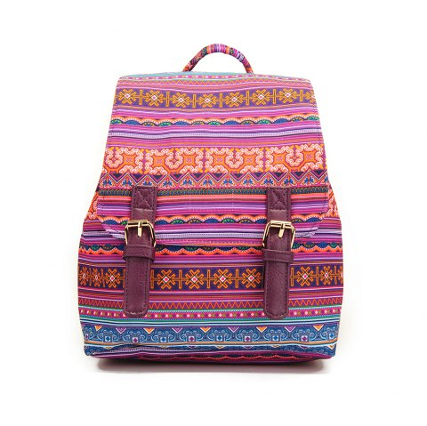 Small Canvas Backpack For Women Mini Backpack Floral Backpack Stripe - STRIPE