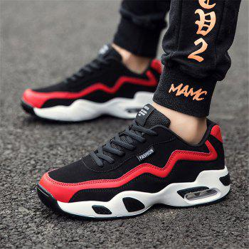 Men's Autumn Outdoor Hiking High Breathable Sneakers 39-44 - BLACK/RED BLACK/RED