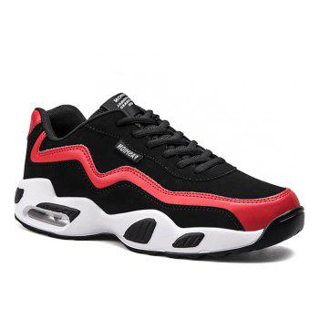Men's Autumn Outdoor Hiking High Breathable Sneakers 39-44 - BLACK AND RED BLACK/RED