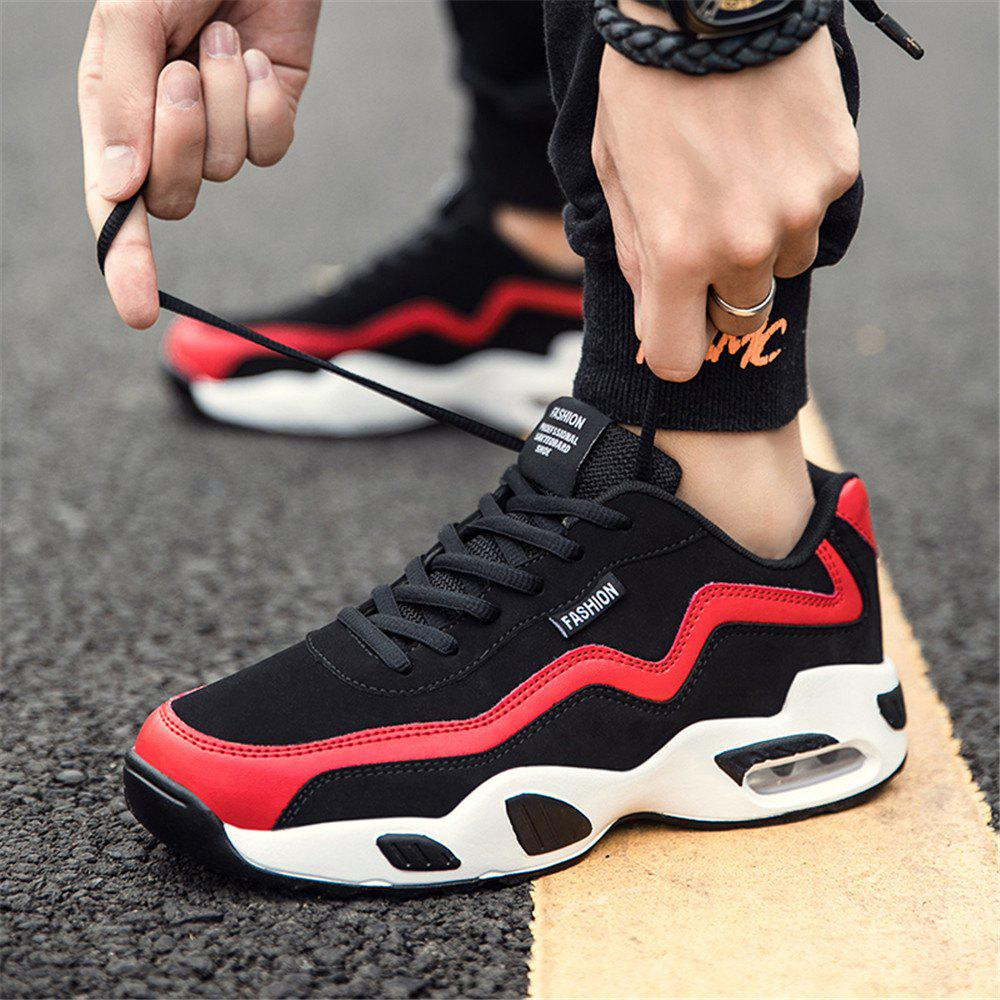 Men's Autumn Outdoor Hiking High Breathable Sneakers 39-44 - BLACK/RED 40