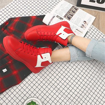 Men's Autumn Outdoor Hiking High Breathable Casual Sports Shoes 39-44 - RED 40