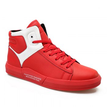 Men's Autumn Outdoor Hiking High Breathable Casual Sports Shoes 39-44 - RED RED