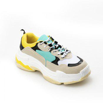 Men's Autumn Outdoor  High Breathable Casual Sports Shoes 39-44 - GREEN AND YELLOW GREEN/YELLOW