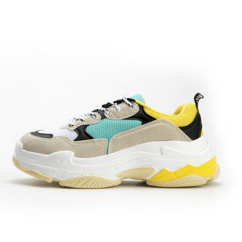 Men's Autumn Outdoor  High Breathable Casual Sports Shoes 39-44 - GREEN/YELLOW GREEN/YELLOW