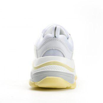 Men's Autumn Outdoor  High Breathable Casual Sports Shoes 39-44 - WHITE/YELLOW WHITE/YELLOW