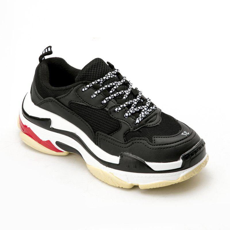 Men's Autumn Outdoor  High Breathable Casual Sports Shoes 39-44 - BLACK 40