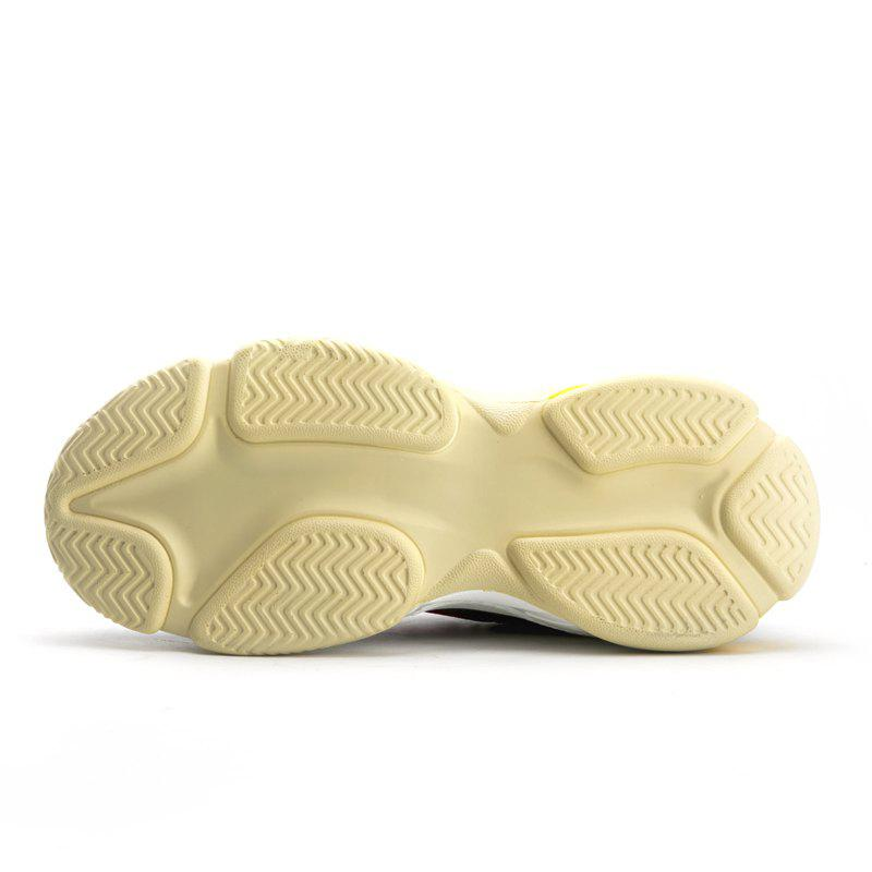 Men's Autumn Outdoor  High Breathable Casual Sports Shoes 39-44 - WHITE/YELLOW 40