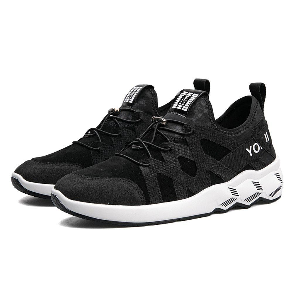 Men's Autumn Outdoor Leisure Breathable High Help Hiking Sneakers 39-44 - BLACK 40