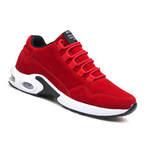 Men's Autumn Outdoor Ventilation Leisure High Hiking Sneakers 39-44 - RED 44
