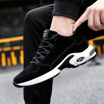Men's Autumn Outdoor Ventilation Leisure High Hiking Sneakers 39-44 - BLACK BLACK
