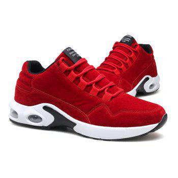Men's Autumn Outdoor Ventilation Leisure High Hiking Sneakers 39-44 - RED RED