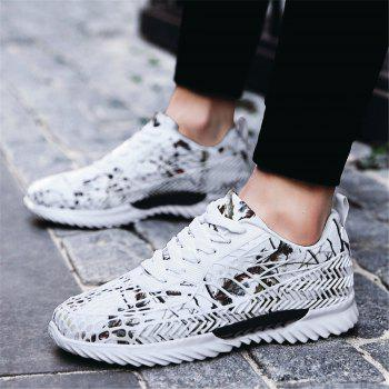 Men's Autumn Outdoor Ventilation Leisure High Hiking Comfort Shoes 39-44 - WHITE WHITE