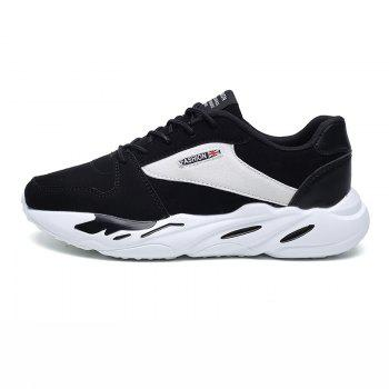 Men's Autumn Outdoor Breathable Leisure Comfort High Help Hiking Sneakers 39-44 - WHITE/BLACK WHITE/BLACK
