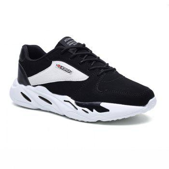 Men's Autumn Outdoor Breathable Leisure Comfort High Help Hiking Sneakers 39-44 - WHITE AND BLACK WHITE/BLACK