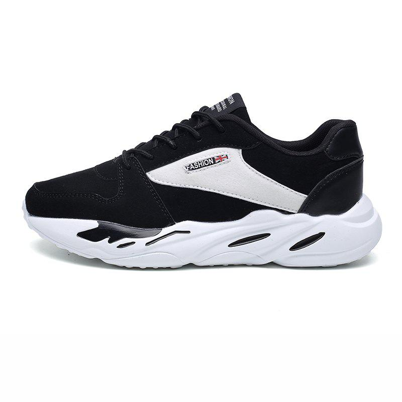 Men's Autumn Outdoor Breathable Leisure Comfort High Help Hiking Sneakers 39-44 - WHITE/BLACK 40
