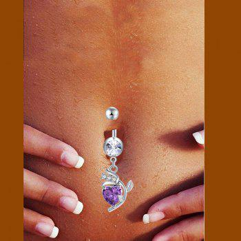 Mode Rose Zircon Navel Bague P0254 - Pourpre
