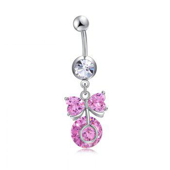 Lovely Bow Knot Exquisite Zircon Navel Ring