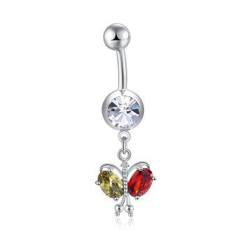 Colorful Butterfly Zircon Navel Ring P0264 - COLORFUL COLORFUL
