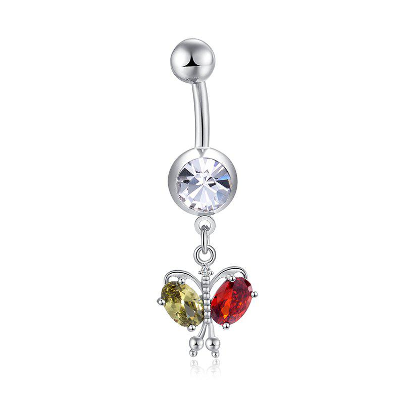 Colorful Butterfly Zircon Navel Ring P0264 - COLORFUL