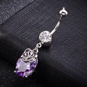 Exquis Grand Zircon Navel Ring P0265 - Pourpre