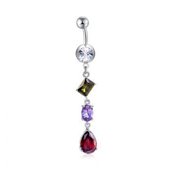 Fashion Multi Zircon Navel Ring P0266 - COLORFUL COLORFUL