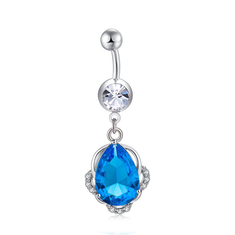 Fashion Petro Exquisite Zircon Navel Ring P0269 - SEA BLUE