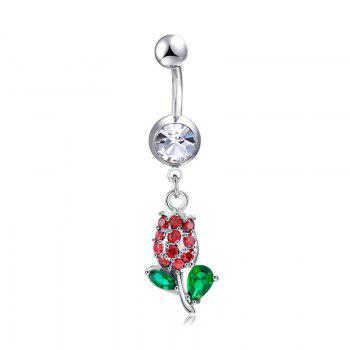 Fashion Roses Exquisite Zircon Navel Ring P0276