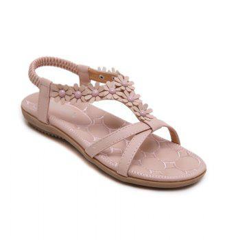 Ladies Rubber Sole Applique Large Size Beach Sandals
