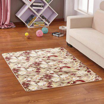 Door Rug Fresh Vivid Floral Anti Skid Bathroom Mat - COLORMIX 140X200CM