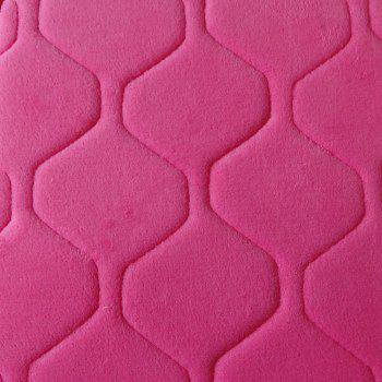 Floor Mat Thicken Coral Fleece Comfy Soft Geometric Pattern Home Mat - ROSE RED ROSE RED